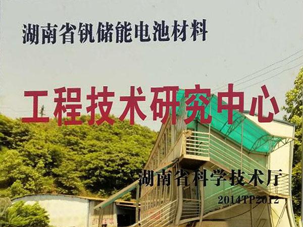 Hunan Province Vanadium Energy Storage Material Battery Research Center