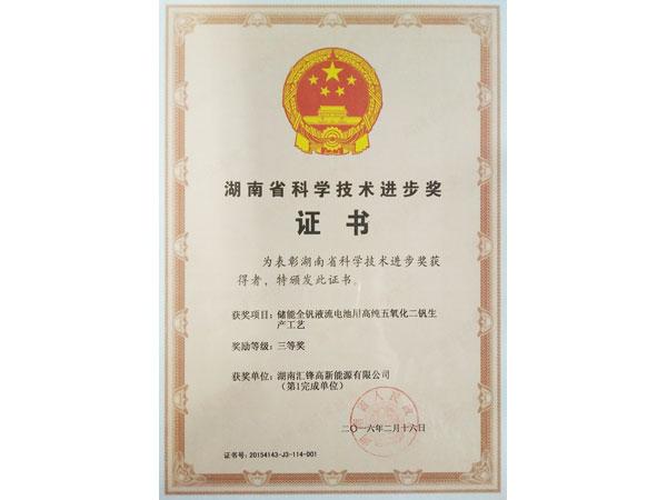Science and Technology Progress Award